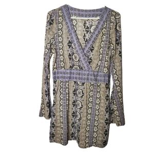 Athleta Wrap Nirvana Tunic Top Boho M